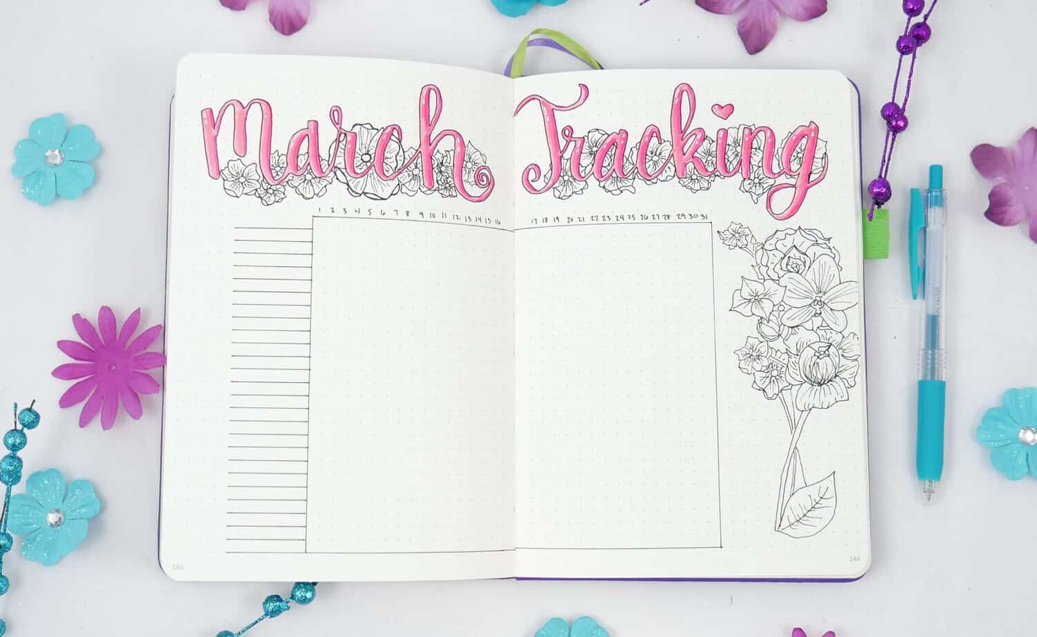 Spring Bullet Journal Set Up Ideas