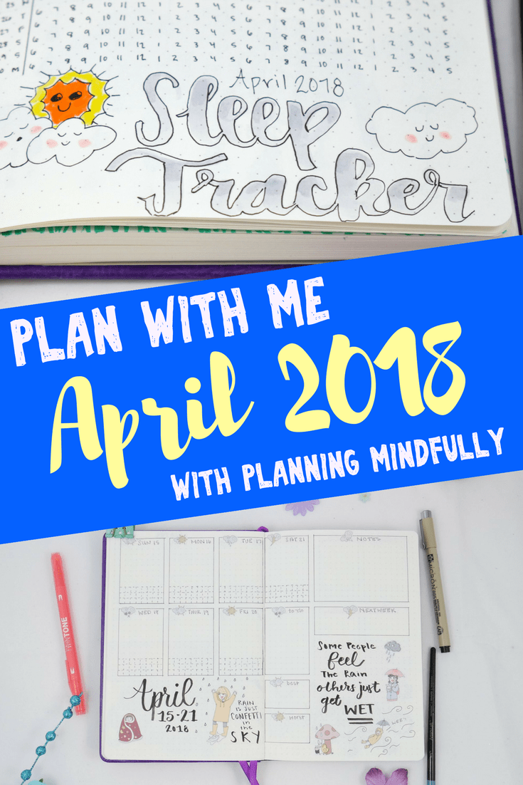 Ready to set up your bullet journal for April? Plan with me for April and learn how I set up my bullet journal for the month. Get tons of creative bullet journal ideas for layouts and spreads, and plus, this weather theme is AMAZING!