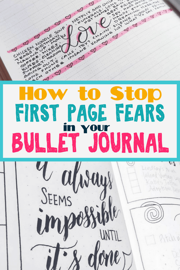 How To Defeat First Page Fear In Your Bullet Journal Planning