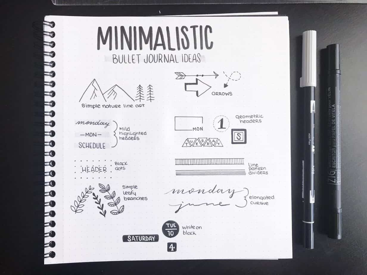 9 Quick and Easy Ways to Decorate Your Minimalist Bullet Journal