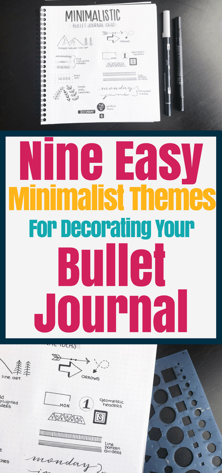 Gorgeous minimalist bullet journal layout ideas for a simple, but easy way to make your bujo pretty! 9 amazing minimalist bullet journal themes for you to try. Amazing bullet journal ideas and inspiration that are fun and make life easier!