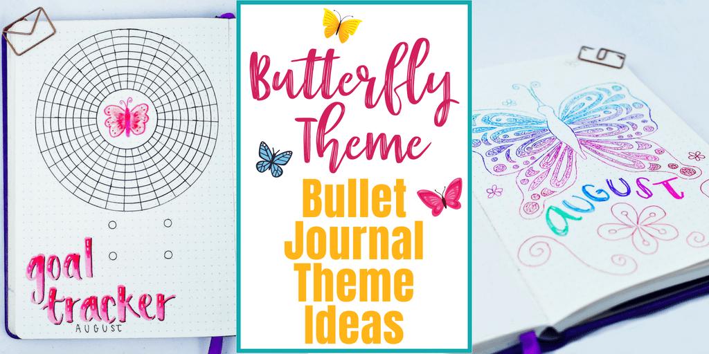 Butterfly Theme: Bullet Journal Theme Ideas