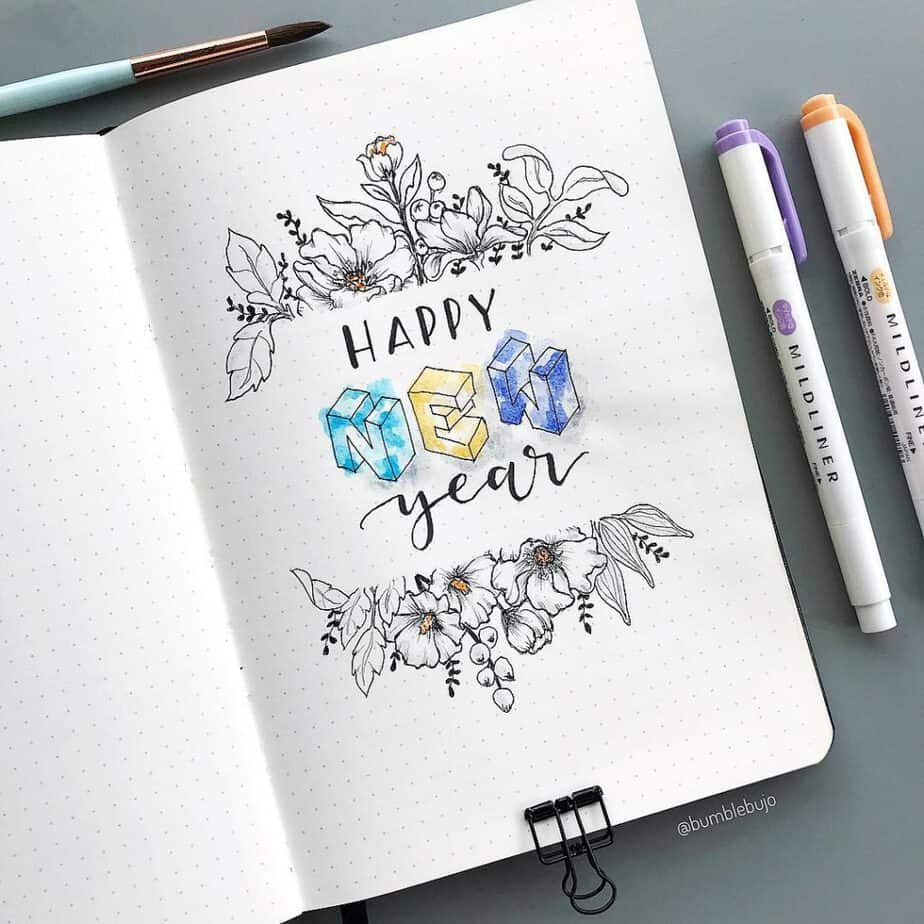 60 Beautiful Bullet Journal Cover Page Ideas For Every Month Of The