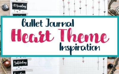 Bullet Journal Heart Theme Inspiration