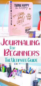 Journaling for beginners ultimate guide blog post