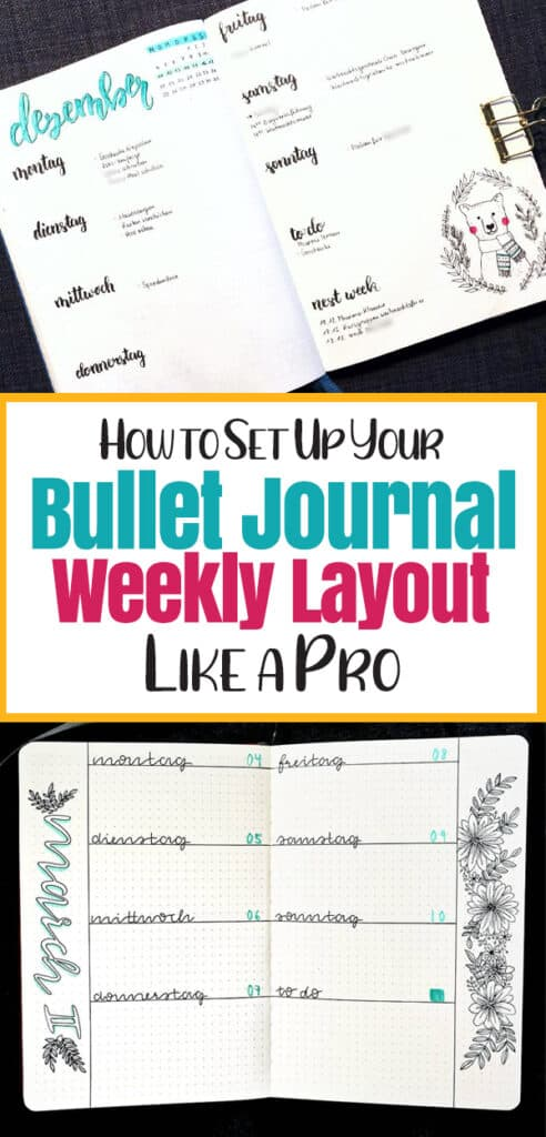 How to set up a bullet journal weekly layout