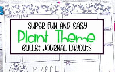 26 Bullet Journal Plant Theme Ideas and Inspiration